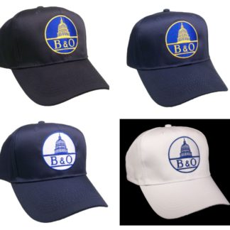Baltimore & Ohio B&O Railroad Embroidered Cap #40-0025 CAP & LOGO CHOICE